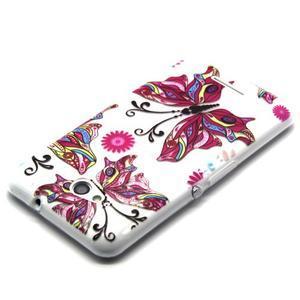Vzorový gélový obal pre Sony Xperia E4g - motýľ - 2