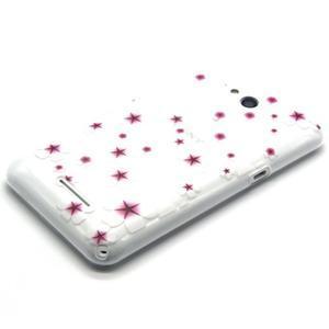 Vzorový gélový obal na Sony Xperia E4g - kvetinky - 2