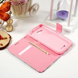 Peňaženkové puzdro na Sony Xperia E4g - kvety - 2