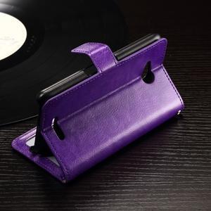 Horse PU kožené puzdro pre mobil Sony Xperia E4g - fialové - 2