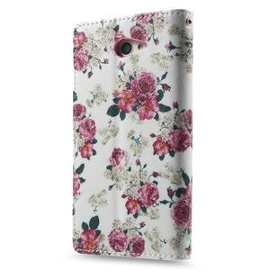 Standy peněženkové pouzdro Sony Xperia M2 Aqua - květiny - 2