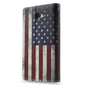 Standy Peňaženkové puzdro Sony Xperia M2 Aqua - US vlajka - 2