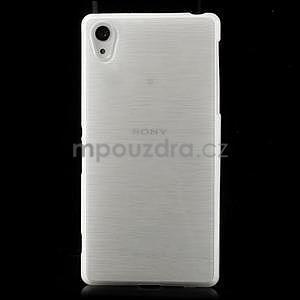 Brúsený gélový obal pre Sony Xperia Z2 - biely - 2