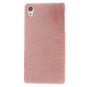 Brúsený gélový obal pre Sony Xperia Z2 - ružový - 2