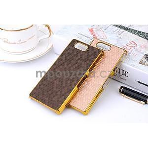 Elegantní kryt se zlatým lemem Sony Xperia Z3 Compact - hnědý - 2