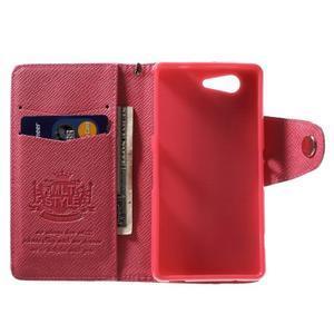 Rose peněženkové pouzdro na Sony Xperia Z3 Compact - 2