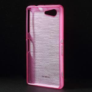 Brúsený obal pre Sony Xperia Z3 Compact D5803 - rose - 2