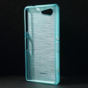 Brúsený obal pre Sony Xperia Z3 Compact D5803 - tyrkysový - 2