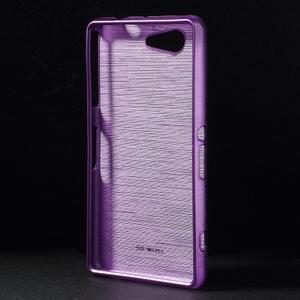 Brúsený obal pre Sony Xperia Z3 Compact D5803 - fialový - 2