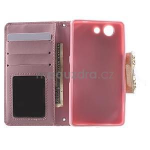 Zapínacie puzdro s mašličkou pre Sony Xperia Z3 Compact - ružové - 2