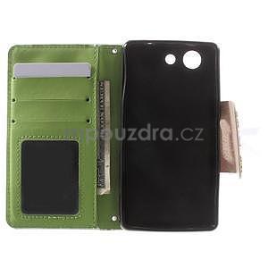 Zapínacie puzdro s mašličkou pre Sony Xperia Z3 Compact - azurové - 2