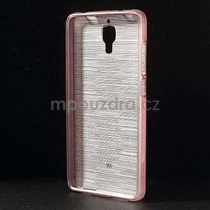 Brúsený kryt pre Xiaomi 4 MI4 - ružový - 2