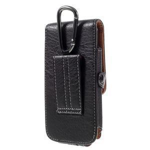 Cestovní PU kožené peňaženkové puzdro do rozmerov 150 x 73 x 15 mm - čierne - 2