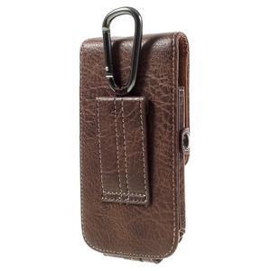 Cestovní PU kožené peňaženkové puzdro do rozmerov 150 x 73 x 15 mm - coffee - 2