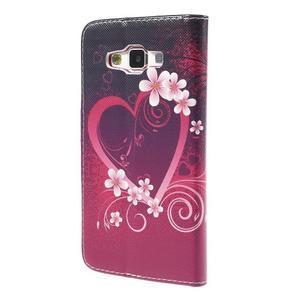 Emotive PU kožené puzdro pre mobil Samsung Galaxy A5 - srdca - 2