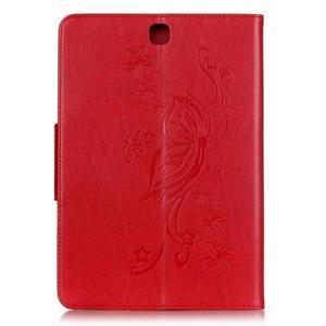 Butterfly PU kožené pouzdro na Samsung Galaxy Tab A 9.7 - červené - 2