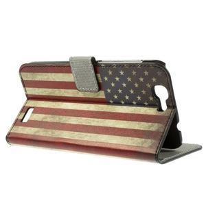 Peňaženkové puzdro Huawei Ascend G7 - vlajka USA - 2