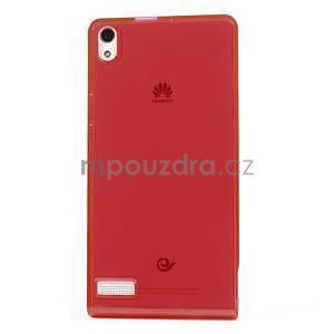 Gélové puzdro na Huawei Ascend P6 - červené - 2