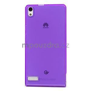 Gélové puzdro na Huawei Ascend P6 - fialové - 2