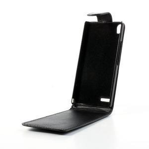 Flipové puzdro na Huawei Ascend P6 - čierné - 2