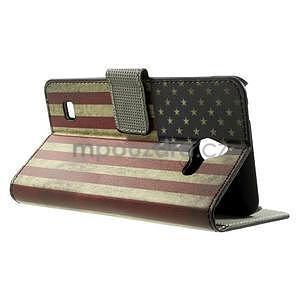 Peněženkévo puzdro na Huawei Ascend Y550 - USA vlajka - 2