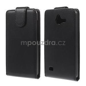 Kožené flipové puzdro na Huawei Ascend Y550 - 2