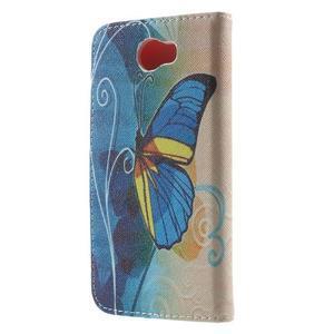 Emotive peněženkové puzdro na Huawei Y5 II - modrý motýl - 2