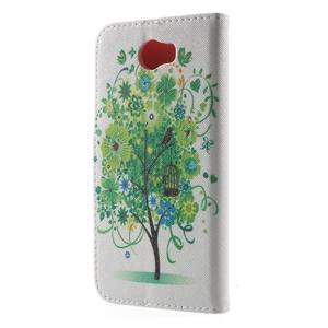 Emotive peněženkové puzdro na Huawei Y5 II - zelený strom - 2