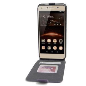 Flipové PU kožené puzdro na Huawei Y5 II - fialové - 2