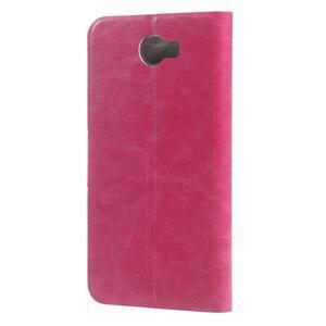 Horse PU kožené puzdro na mobil Huawei Y5 II - rose - 2