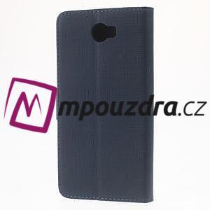 Clothy peněženkové puzdro na Huawei Y5 II - tmavěmodré - 2