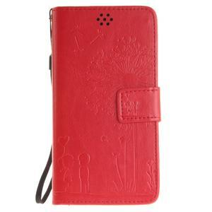 Dandelion PU kožené puzdro na Huawei Y5 II - červené - 2