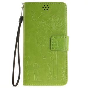 Dandelion PU kožené puzdro na Huawei Y5 II - zelené - 2