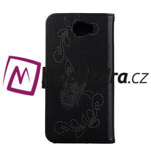Motýlí peněženkové puzdro na Huawei Y5 II - čierne - 2