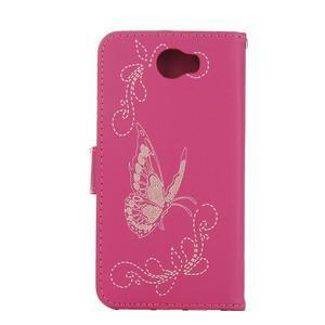 Motýlí peněženkové puzdro na Huawei Y5 II - rose - 2