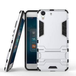 Outdoor odolný obal na mobil Huawei Y6 II a Honor 5A - stříbrný - 2