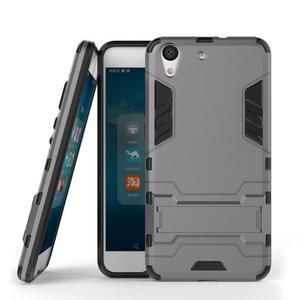 Outdoor odolný obal pre mobil Huawei Y6 II a Honor 5A - šedý - 2