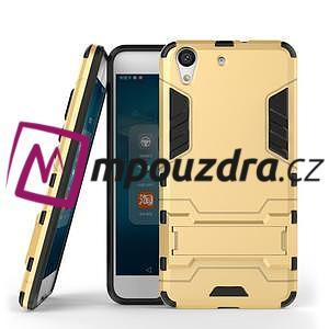 Outdoor odolný obal na mobil Huawei Y6 II a Honor 5A - zlatý - 2
