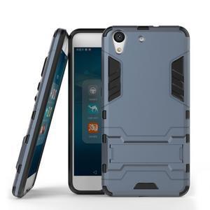 Outdoor odolný obal pre mobil Huawei Y6 II a Honor 5A - šedomodrý - 2