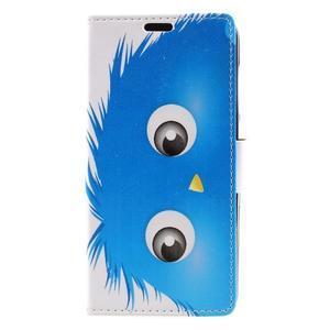 Emotive peňaženkové puzdro na Huawei Y6 II Compact - modrá príšera - 2