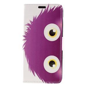 Emotive peněženkové pouzdro na Huawei Y6 II Compact - fialová příšera - 2