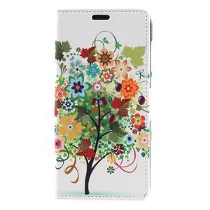 Emotive peňaženkové puzdro na Huawei Y6 II Compact - farebný strom - 2