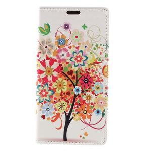 Emotive peněženkové pouzdro na Huawei Y6 II Compact - květinový strom - 2