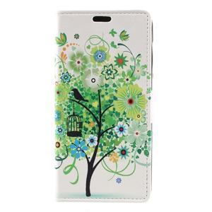 Emotive peňaženkové puzdro na Huawei Y6 II Compact - zelený strom - 2