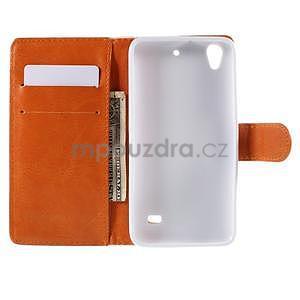 Peňaženkové puzdro na Huawei Ascend G620s - arabesque - 2