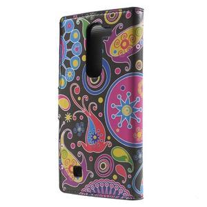 Pěněženkové puzdro na LG G4c H525n - farebné kruhy - 2