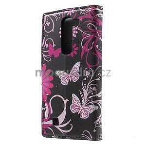 Peňaženkové puzdro pre LG G4c H525n - motýľe - 2