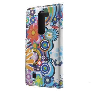 Pěněženkové puzdro na LG G4c H525n - farebné květiny - 2