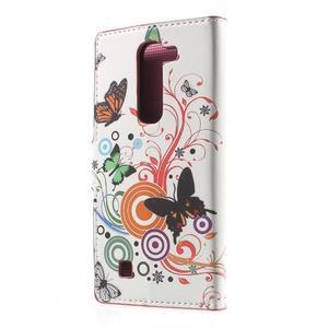 Peňaženkové puzdro pre LG G4c H525n - motýľkové - 2