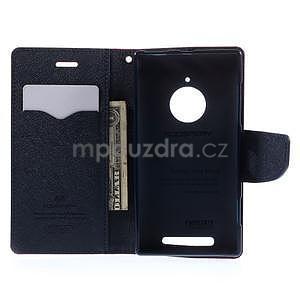 Kožené peňaženkové puzdro na Nokia Lumia 830 - červené - 2